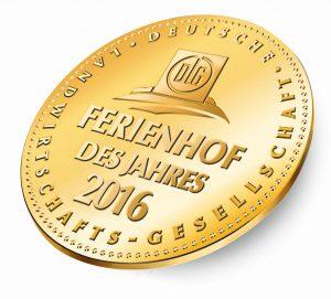 Medaille Ferienhof des Jahres 2016